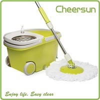 2015 Popular Item 360 degree rotating magic mop with Foot pedal mop refill
