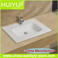 China manufacturer thin edged cabinet basin