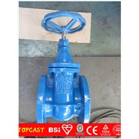 din gate valve pn16 soft seal/ductile iron gate valve