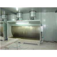 water curtain paint spray booth