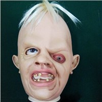 Movie goonies latex horror mask with hair hallwoeen carnival masks