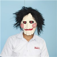 Movie saw mask with hair horror hallwoeen party costumes