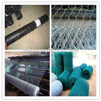 high quality PVC/ galvanized hexagonal wire mesh  made for chicken cages