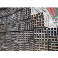 building material black square pipe made in Tianjin