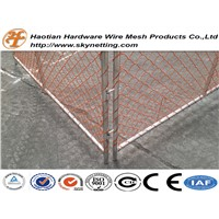 Haotian New Zealand orange chain link temporary fence factory