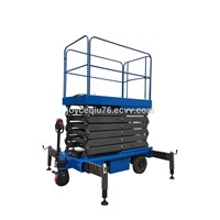 Material handling mobile scissor lift manganese steel motorized hydraulic lift