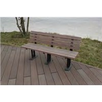 Wood plastic composite park bench weather proof antiseptic garden chair