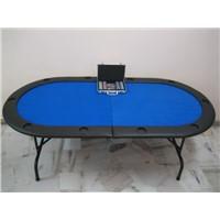 84'' stainless steel folding poker table