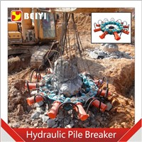 BEIYI hydraulic pile breaker excavator concrete pile cutter