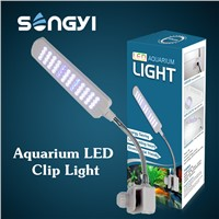 2.5W Flexible Aquarium Clip Tank Lamp 48 LED White & Blue Light with Touchable Inductive Switch