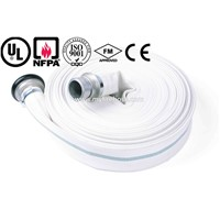 PVC high pressure wearproof fire water hose price with fire hose nozzle,used in fire hose cabinet