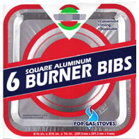 Square Gas Burner Bib