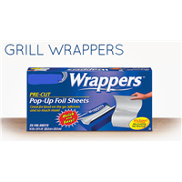 Grill wrapper Aluminum foil pop up sheet  500 pcs