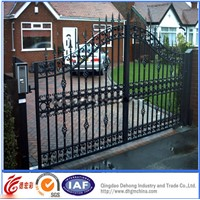 Decorative Commerical/Residential High Quality Wrought Iron Gate
