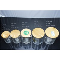Wooden lid with seal ring, glass/ wood/ metal/ plastic lid for jars and bottles