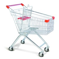 metal cheap trendy 4 wheel shopping trolley for grocery wholesale