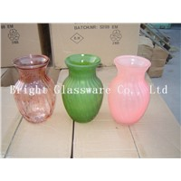 splendid transparent glass vases, engraved crystal glass