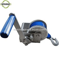300kg Portable Small mini hand winch with webbing strap