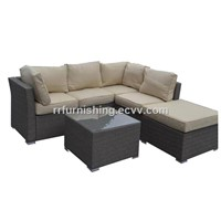 Outstanding Rattan Corner Sofa Group Patio Furniture