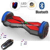 New Arrival 8.0 Inch Electric Scooters With LED Light and Bluetooth Speaker Segway Balance Scooter