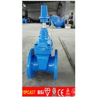 soft seal din3352 f4 ductile iron material gate valve dn80