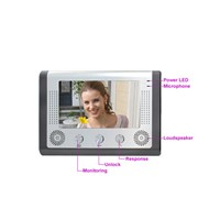 7'' TFT color LCD,Video door phone,handsfree,up to 6 monitor,or 2 cameras