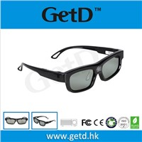 Black 3D multimedia glasses for 3d DLP-link projectors GL1100