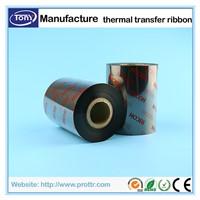 TTR ribbon black wax resin barcode ribbon thermal transfer ribbon for barcode sticker printing