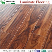 Global Popular Fashion Hardwood V-Groove Design Laminated Laminate Flooring