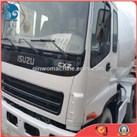A/C-Cabin-Attached Isuzu Used Concrete Mixer Truck Without Mechanical Fault
