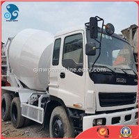 Well-Maintenanced Used Isuzu Concrete Mixer Truck with 9-Cbm-Agitator