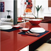 Rosy Red Man-Made Stone Slabs and Tiles for Worktops and Kitchen Tops
