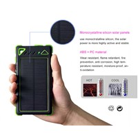 8000mah solar power bank solar panel power bank