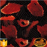 Dazzle Graphic Snake Skin Pattern No.DGDB90 Water Transfer Printing Film Hydrographics Film