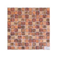 23x23mm Glass Stainless Steel Resin Mix Colorful Mosaic Best Selling Wall Tiles