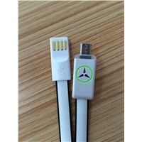 colorful USB cable with Benz logo for Samsung HTC Sony V8
