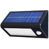 solar panel charged Sensor 3W LED wall pack outdoor lighting