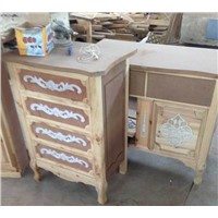 New Design for Bed Room Solid Wood Cabinet with Decoration