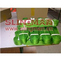China supplier WLL2ton 2000kg Polyester webbing sling flat web sling band 6:1 7:1 8:1