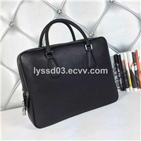 Leather briefcase conference bags for business man laptop bag for men