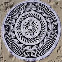 Super Large Round Beach Towels With Tassels/Fringe