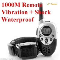 A+Trainer 1000 meters control Rechargeable and Waterproof Remote Pet Training Collar bark collar