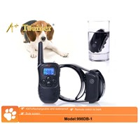 Blue Screen 300m electric collars Remote control bark collar with LCD Display shock and vibration