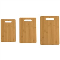 Full Bamboo Chopping Board with Handle - 3 Pieces Set
