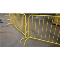 8' Metal Galvanized Steel Bike Rack Crowd Control Barricade Powder Coated with Bridge Feet