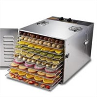 Household stainless steel Food dehydrator with 10 trays