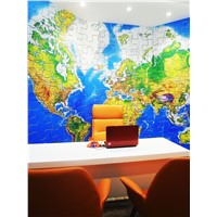 3D water-based ink printing wallcovering