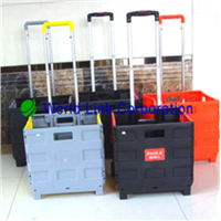 Plastic Colorful Roll Shopping Cart