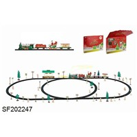Christmas electric track train with shelters (101PCS, with light)