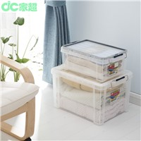 2015 hot selling new clear plastic storage box come with steel lock